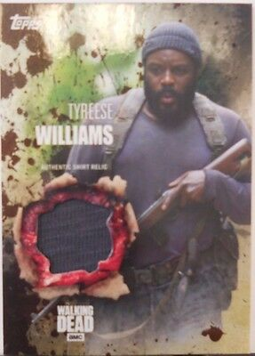 2016 Topps Walking Dead Season 5 Tyreese SP Mud Costume Relic Insert # 37 / 50