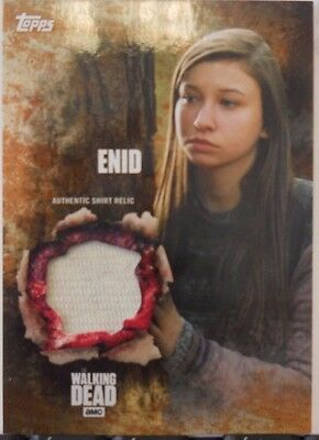 2016 Topps Walking Dead Season 5 Enid SP Rust Costume Relic Insert # 88 / 99