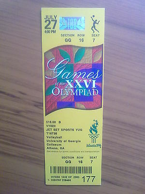 Ticket Olympic Games ATLANTA 27.07.1996 VOLLEYBALL (4:00 PM)