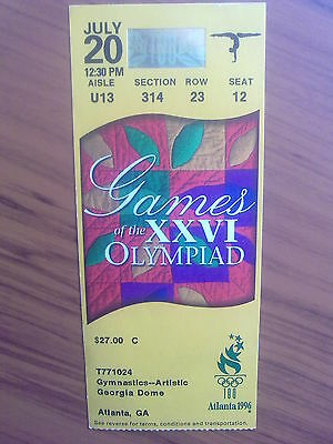 Ticket Olympic Games ATLANTA 20.07.1996 GYMNASTICS-ARTISTIC