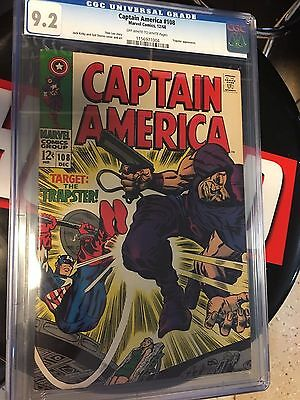 Captain America #108  Cgc Graded 9.2