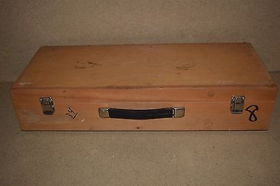 "++ WOOD HARD EQUIPMENT CARRYING CASE - 24X9X3"" INSIDE (12l)"