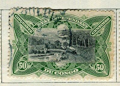 BELGIUM CONGO;   1890s early classic pictorial issue 50c. used,