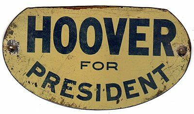 1928 Hoover for President Original License Plate Topper Attachment