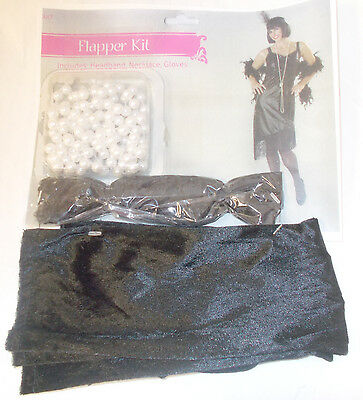 Seasons USA Flapper Kit Adult Costume Accessories Necklace Headband Gloves NIP