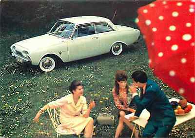 Automobile Advertising Postcard - Ford Taunus 17M ca 1960s - Coupe