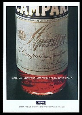 1986 Campari Aperitif bottle close-op color photo vintage print ad