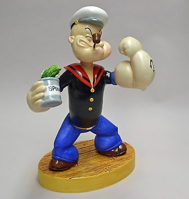 "Connoisseur Popeye Porcelain Figurine, Ltd. Ed.""oh Me Spinach"" Mint, Official."