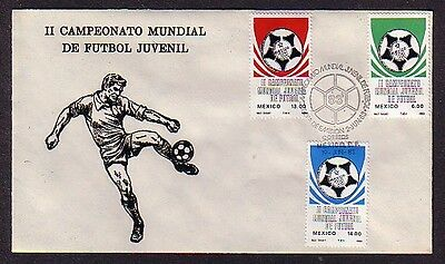 / Mexico, Scott cat. 1315-1317. World Youth Soccer issue on a First day cover.