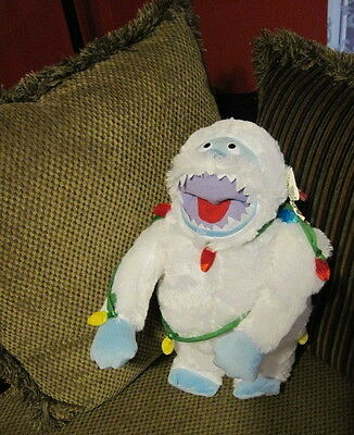 """RARE Bumble Abominable Snowman 20"""" Plush Rudolph Red Nosed Reindeer w/ Lights"""