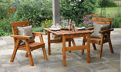 Wooden Garden Table & Chairs - Wood Outdoor  Patio Furniture