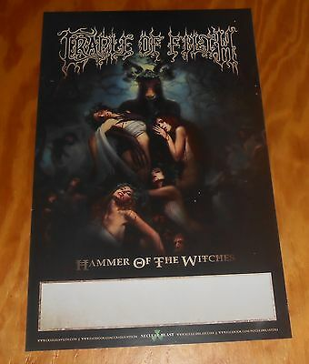 Cradle of Filth Hammer of the Witches Poster Original Promo 11x17