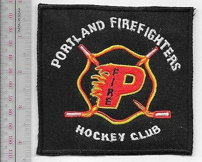 Firefighter Oregon Portland Fire Department Firefighters Fire Hockey Club Patch