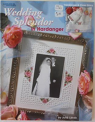 Leisure Arts Wedding Splendor Hardanger Cross Stitch Pattern Leaflet Julia Lucas