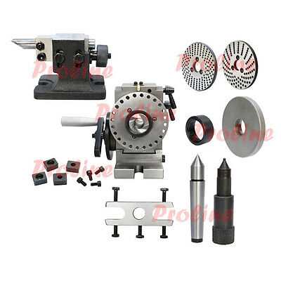 BS-0 Precision Semi Universal Dividing Head Tailstock Spindle MIlling Mill Set