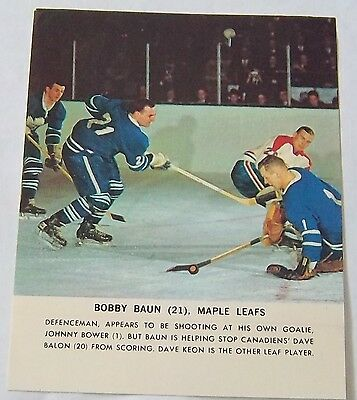 Toronto Star 1964-65 Bob Baun Toronto Maple Leafs Hockey Stars in Action