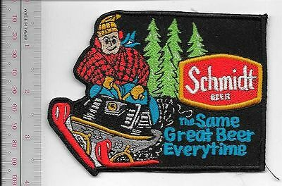 Snowmobile & Schmidt Beer 'The Same Great Beer Everytime' Promo Patch