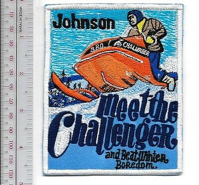 Snowmobile OMC Johnson Evinrude Challenger Sled 1970 Sturtevant, WI Promo Patch