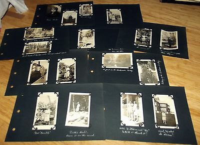 9 Pages from Old Photo Album With 15 Photos Some People & Places ID'd