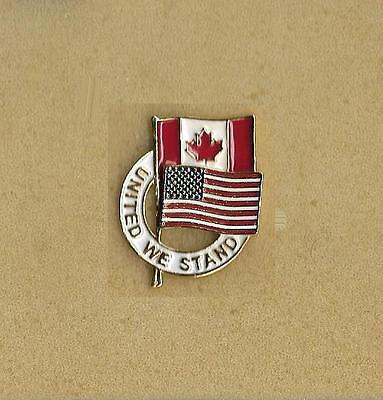 United We Stand Usa Canada Old Pin