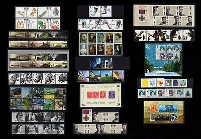 Gb 2006. Complete Year Of 12 Sets Of Commemorative Stamps + 5 Mini Sheets. Mnh