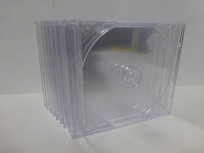 10 Jewel Cases  1Cd - Dvd Case, Clear  Insert Original Usa