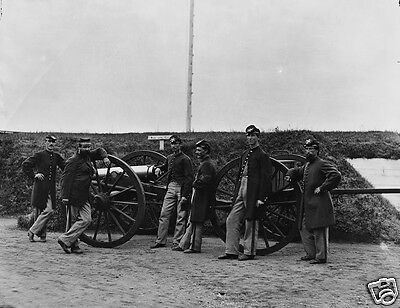 3rd Massachusetts Artillery Cannon Caisson Washington DC 8x10 US Civil War Photo