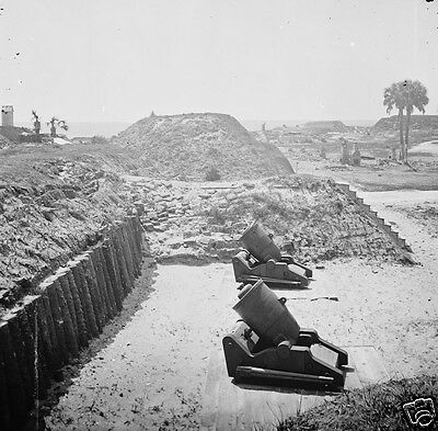 Cannon Mortars Guns Fort Moultrie Charleston SC 1865 8x10 US Civil War Photo