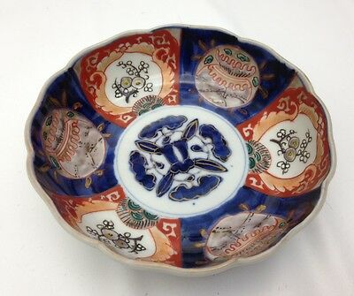 Antique Japanese Imari Bowl, Meiji Period c.19th C - Hand Painted