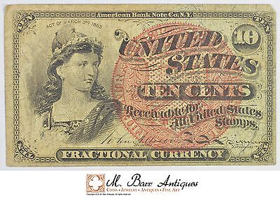 1863 10 Cents 4th Issue Fractional Currency *322