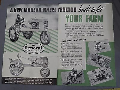 Vintage The GENERAL Tractor sales Brochure Cleveland Tractor Co Ohio rare!