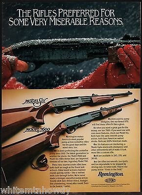 1983 REMINGTON Model Six & 7600 Rifle AD