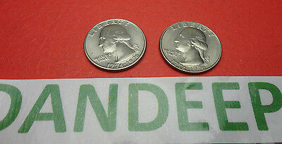 2- 1776-1976 Bicentennial Quarters 25 Cents Coin Money Currency collectible