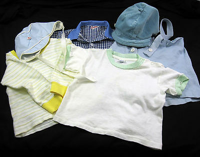 Lot of 6 Toddler Baby Boy Vintage 1950's Shirt Overalls Hat Carters Spearhead