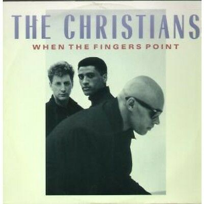 "CHRISTIANS When The Fingers Point 12"" VINYL UK Island 1987 3 Track B/W Rebecca"