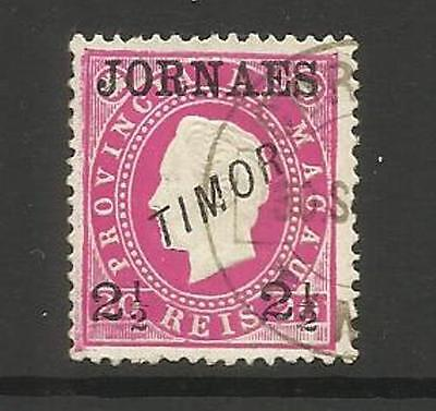 Portuguese Timor  ~ 1892 East Timor Newspaper Stamp (Used)