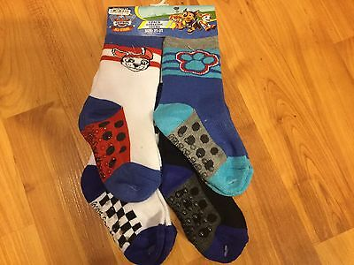 B7 NEW Paw Patrol Athletic Socks 2T - 3T Toddler Boy Girl - 4 Pack - Nick Jr.