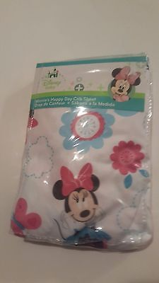NWT Disney Baby minnie mouse Print Fitted Crib Sheet