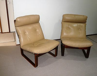 Retro Pair Tessa Sling Back Leather Chairs