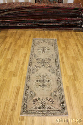 Great Muted Antique Hallway Tabriz Runner Persian Oriental Area Rug Carpet 3X10