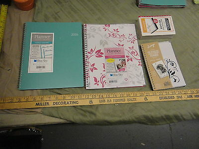 C ) Blue Sky new unused 2016 daily monthly planners, calendar refill, all seen
