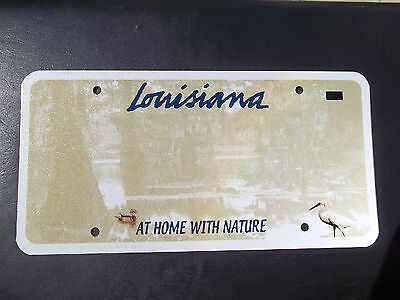 Louisiana Graphic 3M  Blank Pre-Production License Plate  At Home With Nature La