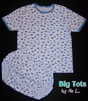 Adult Baby  SAILOR cotton snap shoulder set  *Big Tots by MsL**
