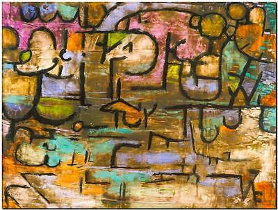 """PAUL KLEE ABSTRACT ART ~ After the Flood ~ CANVAS PRINT Poster ~ 8""""X 12"""""""