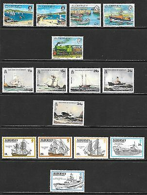 ALDERNEY Nice Mint Never Hinged Issues Selection w/ Sheets (Feb 0161)