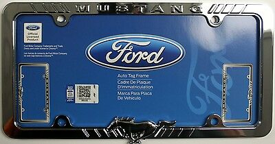 ford mustang chrome plated license plate frame tag holder Gt cobra shelby selean