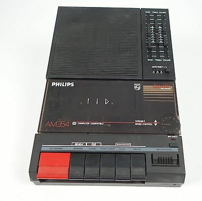 Philips Am 354 Kassetten Recorder Variable Speed Control !!  +++