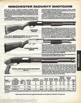 1988 Winchester Security Defender.Pistol Grip.Stainless Marine Police Shotgun AD
