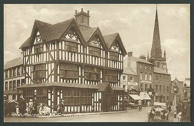 Hereford Old House High Town Vintage Frith Printed Postcard
