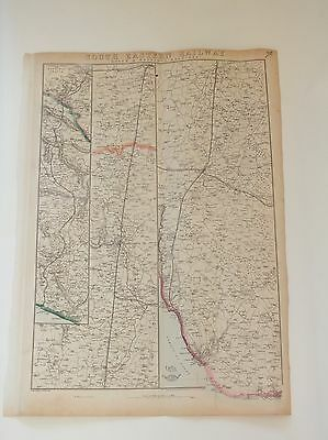 South Eastern Railway Map Dover Hastings Dispatch Atlas